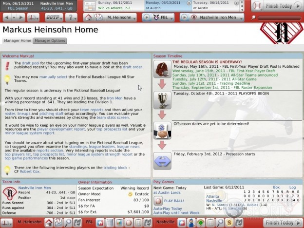 Out of the Park Baseball 11 Screenshot #3 for PC