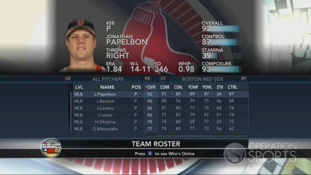 Major League Baseball 2K10 Screenshot #106 for Xbox 360