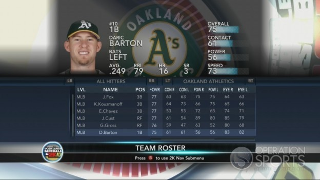 Major League Baseball 2K10 Screenshot #208 for Xbox 360