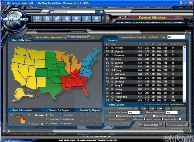 Total College Basketball Screenshot #1 for PC