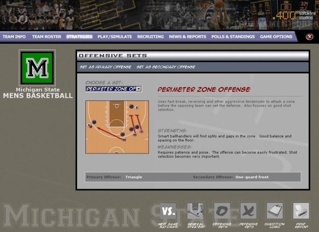 Tournament Dreams College Basketball Screenshot #2 for PC