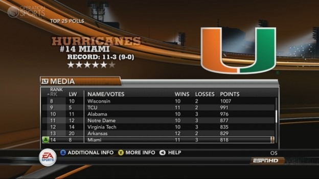 NCAA Football 11 Screenshot #252 for Xbox 360