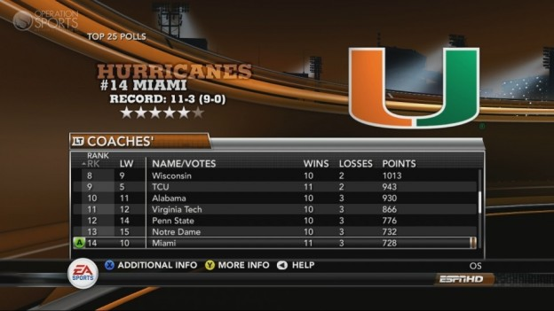 NCAA Football 11 Screenshot #258 for Xbox 360