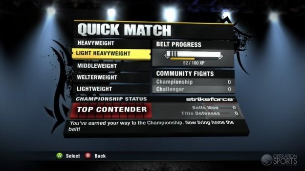 EA Sports MMA Screenshot #69 for Xbox 360