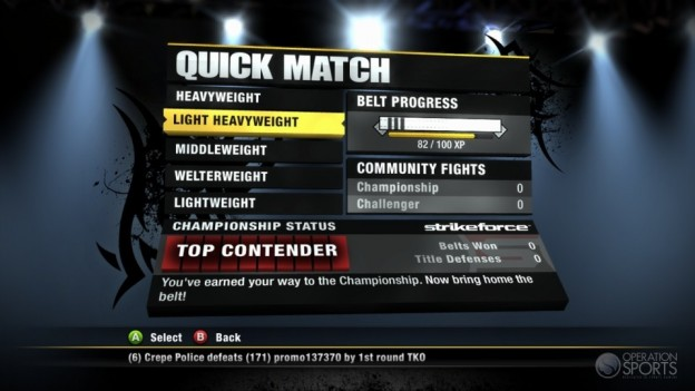 EA Sports MMA Screenshot #73 for Xbox 360