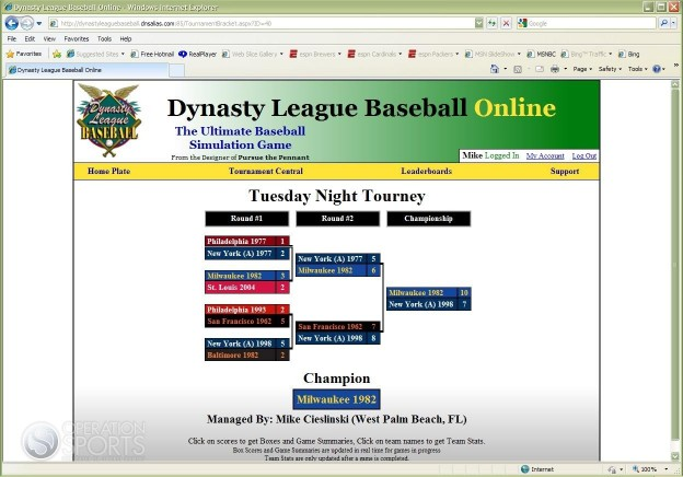 Dynasty League Baseball Online Screenshot #3 for PC