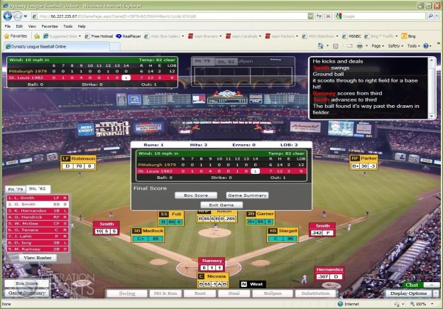 Dynasty League Baseball Online Screenshot #5 for PC