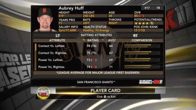 Major League Baseball 2K11 Screenshot #20 for Xbox 360