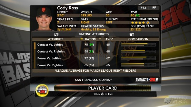 Major League Baseball 2K11 Screenshot #29 for Xbox 360