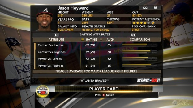 Major League Baseball 2K11 Screenshot #65 for Xbox 360