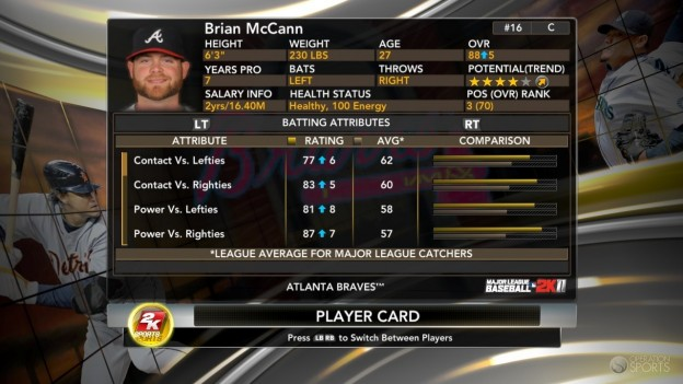 Major League Baseball 2K11 Screenshot #68 for Xbox 360
