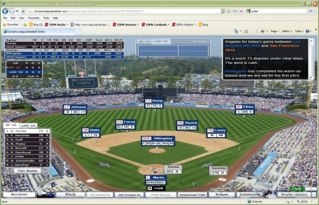 Dynasty League Baseball Online Screenshot #14 for PC