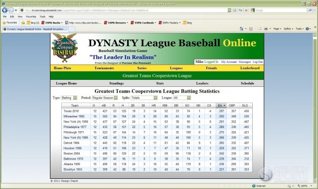 Dynasty League Baseball Online Screenshot #20 for PC