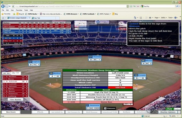 Dynasty League Baseball Online Screenshot #23 for PC