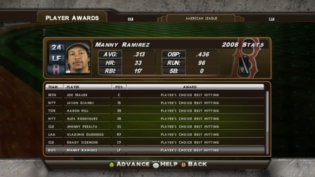 Major League Baseball 2K8 Screenshot #169 for Xbox 360