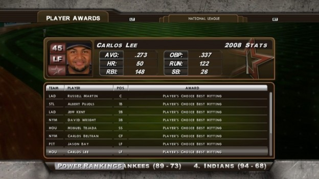 Major League Baseball 2K8 Screenshot #172 for Xbox 360