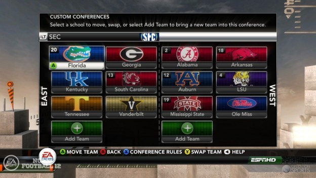 NCAA Football 12 Screenshot #271 for Xbox 360