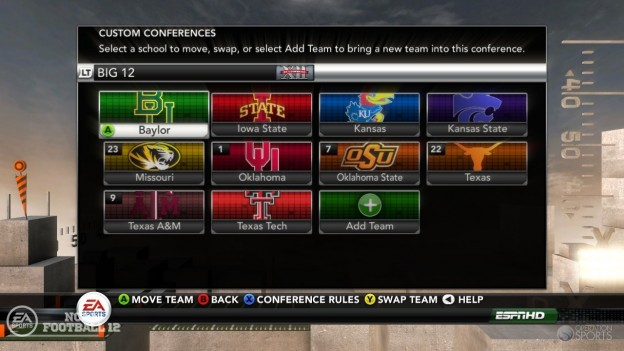 NCAA Football 12 Screenshot #272 for Xbox 360