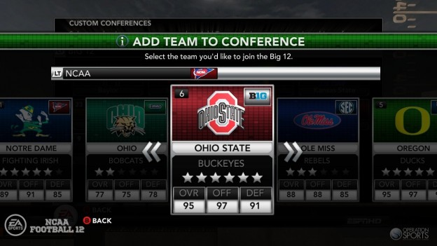 NCAA Football 12 Screenshot #273 for Xbox 360