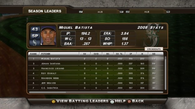 Major League Baseball 2K8 Screenshot #213 for Xbox 360