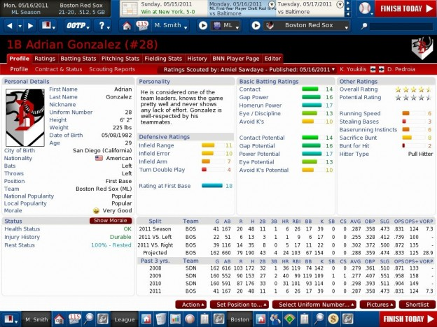 OOTP 12 Screenshot #10 for PC