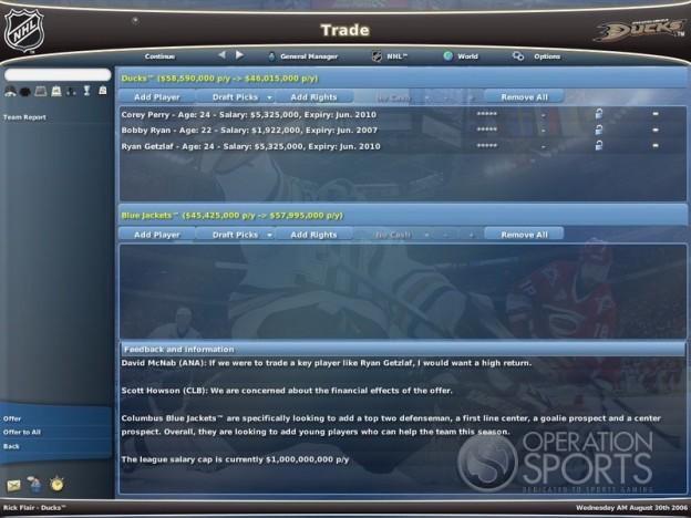 NHL Eastside Hockey Manager 2007 Screenshot #2 for PC