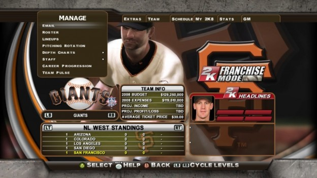 Major League Baseball 2K8 Screenshot #270 for Xbox 360