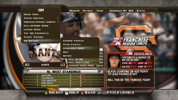 Major League Baseball 2K8 Screenshot #271 for Xbox 360