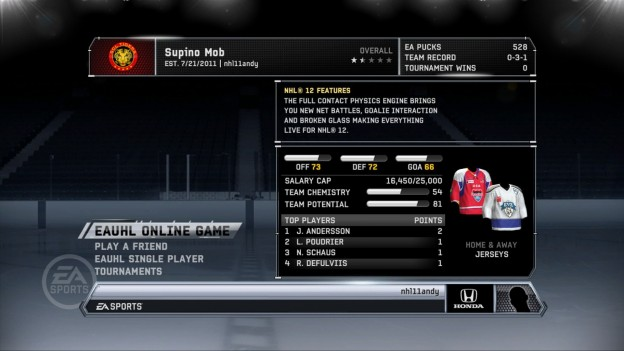 NHL 12 Screenshot #50 for Xbox 360