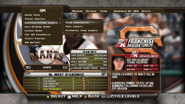 Major League Baseball 2K8 Screenshot #274 for Xbox 360