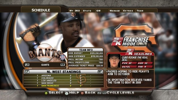 Major League Baseball 2K8 Screenshot #279 for Xbox 360