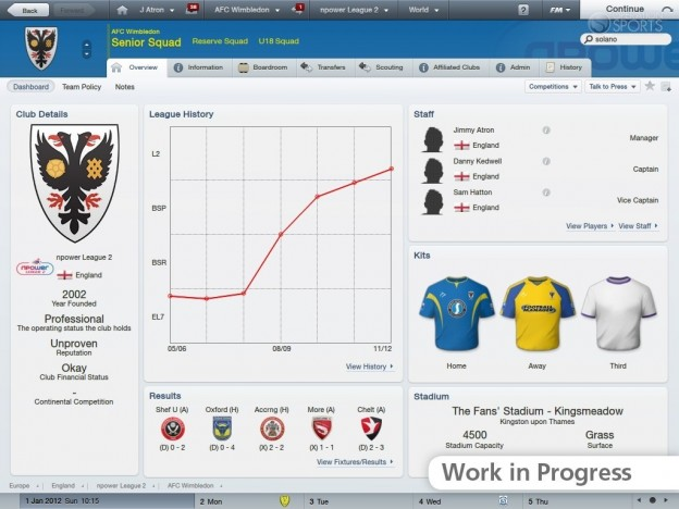 Football Manager 2012 Screenshot #11 for PC