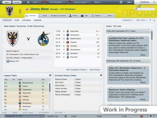 Football Manager 2012 Screenshot #14 for PC