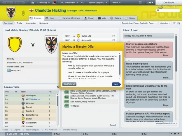 Football Manager 2012 Screenshot #57 for PC