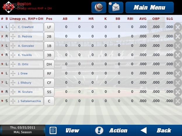 iOOTP Baseball 2011 HD Screenshot #3 for iPad