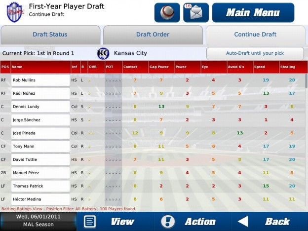 iOOTP Baseball 2011 HD Screenshot #6 for iPad