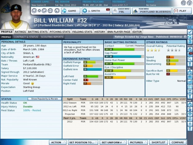 OOTP 13 Screenshot #1 for PC