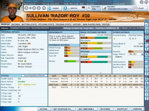 OOTP 13 Screenshot #4 for PC