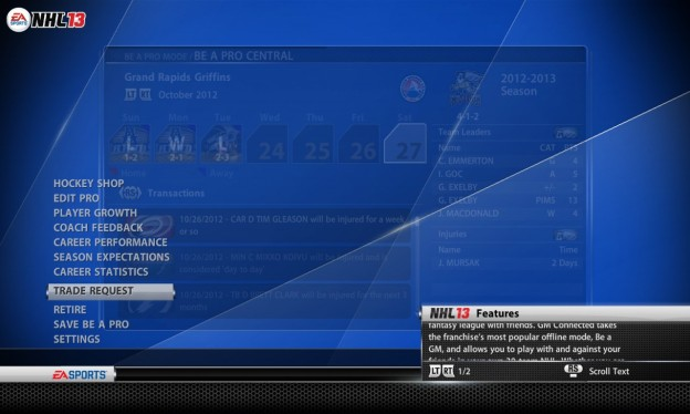 NHL 13 Screenshot #152 for Xbox 360