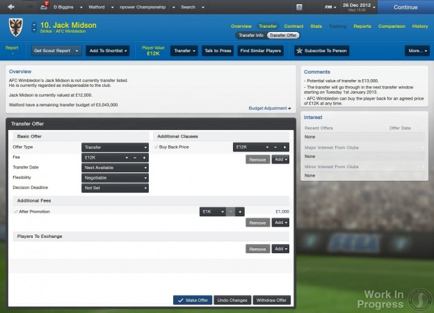 Football Manager 2013 Screenshot #53 for PC