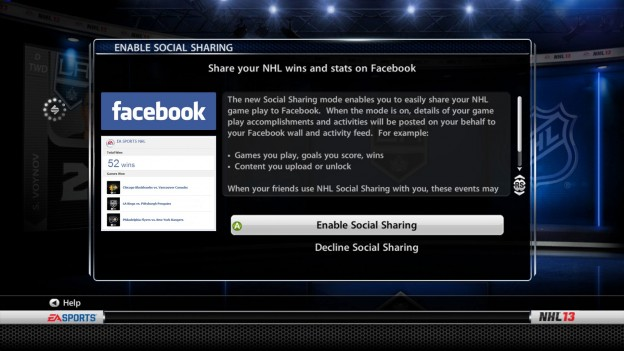 NHL 13 Screenshot #215 for Xbox 360