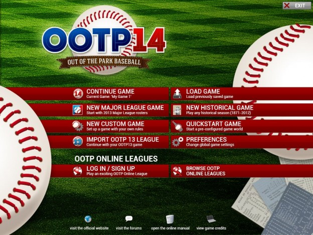 Out of the Park Baseball 14 Screenshot #1 for PC