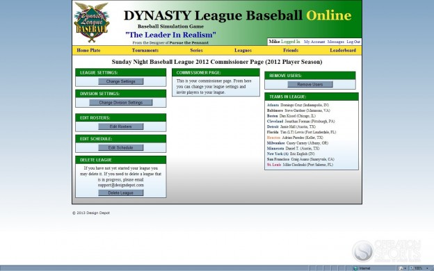 Dynasty League Baseball Online Screenshot #37 for PC