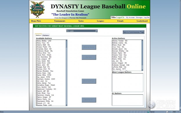 Dynasty League Baseball Online Screenshot #38 for PC