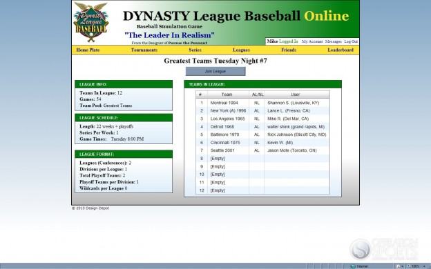 Dynasty League Baseball Online Screenshot #40 for PC