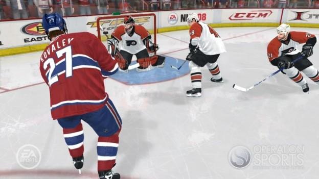 NHL 08 Screenshot #19 for Xbox 360