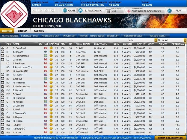 Franchise Hockey Manager Screenshot #9 for PC, Mac