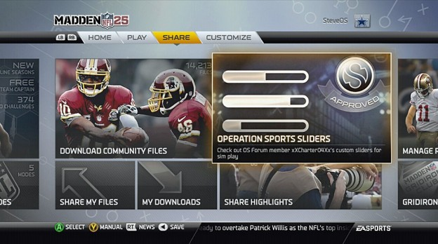 Operation Sports Screenshot #444 for Xbox 360