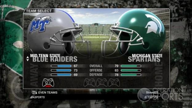 NCAA Football 09 Screenshot #62 for Xbox 360