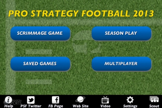 Pro Strategy Football 2013 Screenshot #1 for iOS